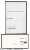 Autographs, Jimmy & Rosalynn Carter Signed Lot