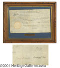 Autographs, Jefferson & Madison Signed Land Grant