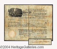 James Monroe Signed Land Grant c. 1819 - Partially printed land grant document made out to Thomas O' Connor, February 8...