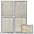Autographs, Franklin Pierce Fabulous Handwritten Signed Letter