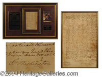 "George Washington Beautiful ALS Letter Signed - a href=""http://www.autographs.com/auctions/details/lot833.chtml&quo..."