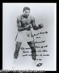 Autographs, Muhammad Ali Unique Signed Photo