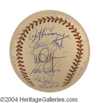 1989 Oakland A's World Series Champions Signed Baseball - Rawlings official American League baseball (Brown), beautifull...