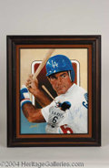 Autographs, Steve Garvey Signed Leon Wolf Oil Painting
