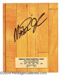 Autographs, Magic Johnson Signed GW Forum Floor Plaque