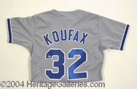 Sandy Koufax Rare Signed Jersey PSA/DNA - Rare and highly desirable Rawlings official L.A. Dodgers Sandy Koufax Diamond...