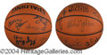 Autographs, 86-87 Los Angeles Lakers World Champs Signed Basketball