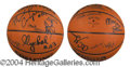 Autographs, 87-88 Los Angeles Lakers World Champs Signed Basketball