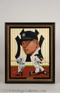 Autographs, Mickey Mantle Signed Leon Wolf Oil Painting