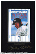 Autographs, Mickey Mantle Signed Special Leatherbound Book