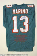 Autographs, Dan Marino Signed Commemorative Jersey