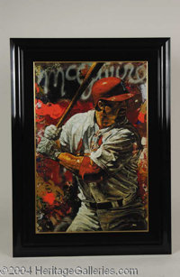 Mark McGwire Massive Road to Glory Giclee - Undoubtedly one of the most impressive Mark McGwire pieces we have ever enco...