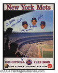 Autographs, 1969 New York Mets Signed Vintage Yearbook