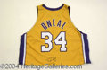 Autographs, Shaquille O' Neal Signed Pro Model Lakers Jersey