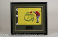 Autographs, Arnold Palmer Signed Masters Flag w/ Art PSA/DNA