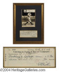 Autographs, Babe Ruth Signed Bank Check