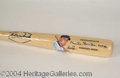 Autographs, Duke Snider Signed Big Stick Bat w/ Artwork