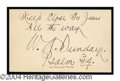 Autographs, Billy Sunday Vintage Ink Signature
