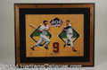 Autographs, Ted Williams Large Signed Canvas Giclee Framed Display