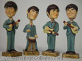Autographs, Four Vintage Beatles Bobbing Head Figurines