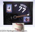Autographs, Garth Brooks Framed Signed Display with Baseball