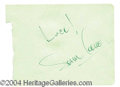 Autographs, Sam Cooke Vintage Ink Signature
