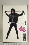 Autographs, Alice Cooper Signed Promo Poster