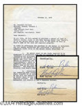 Autographs, Bob Dylan Rare Signed Document