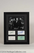 Autographs, The Highwayman Signed Framed Display