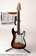 Autographs, John Lee Hooker Signed Electric Guitar