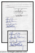 Autographs, KISS Rare Signed Document w/ Legal Names