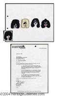 Autographs, KISS Original Keychain Artwork c. 1978