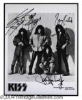 Autographs, KISS Signed 8 x 10 Publicity Photo