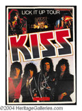 Autographs, KISS Signed 1983-84 European Concert Poster