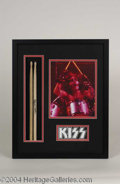 Autographs, Peter Criss KISS Signed Drumstick Display