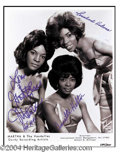 Autographs, Martha & The Vandellas Large Signed Photograph