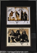 Autographs, Two signed Metallica Photos in One Frame