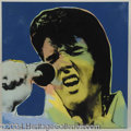 Autographs, Elvis Massive Steve Kaufman Canvas Screenprint