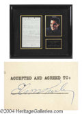 Autographs, Elvis Presley Incredible Signed Document