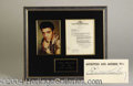 Autographs, Elvis Presley Signed Document for Wild In The Country