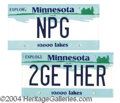 Autographs, Minnesota License Plates from Prince 2Gether Video