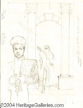 Autographs, Prince Concept Sketch for Chains O' Gold