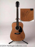 Autographs, Acoustic Guitar Signed by LeAnn Rimes
