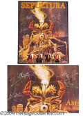 Autographs, Sepultura Signed Poster Arise