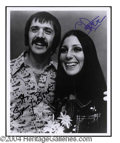 Autographs, Sunny & Cher Dual Signed Photo