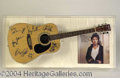 Autographs, Bruce Springsteen & The E Street Band Signed Guitar Display