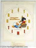 Autographs, Mickey Mouse and Donald Duck Watch Design by Chet Marshall