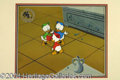 Autographs, Duck Tales Nephews Animation Cel and Production Backfround