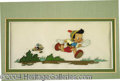Autographs, Pinocchio and Jiminy Cricket Disney Cel