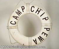 """Addams Family Values Life Preserver - This Camp Chippewa Life Preserver is from the 1993 sequel """"Adams Family Value..."""